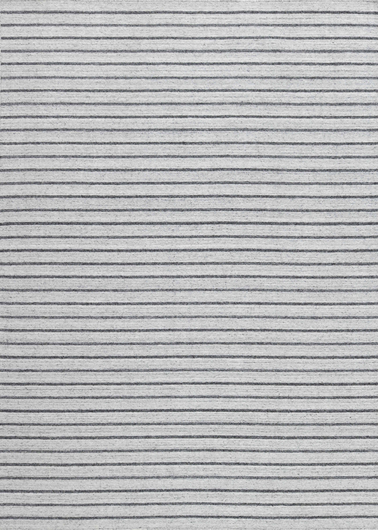 Laagpolig vloerkleed Nouveau Stripes zilver