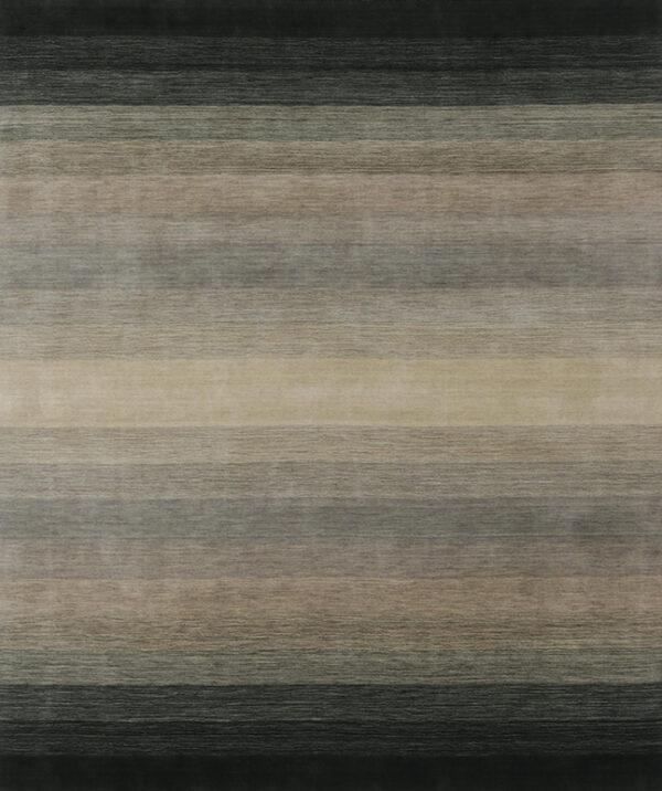 Laagpolig vloerkleed Panorama black/grey