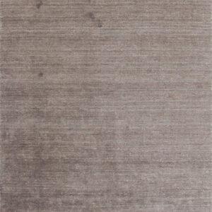 Laagpolig vloerkleed Plain Dust donkerbruin