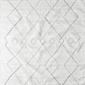 Laagpolig vloerkleed Matta Atlas wit
