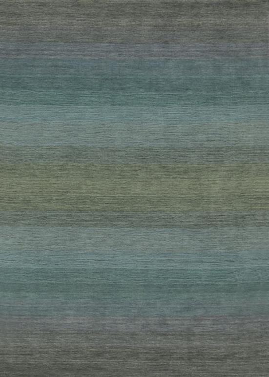 Laagpolig vloerkleed Panorama grey/blue