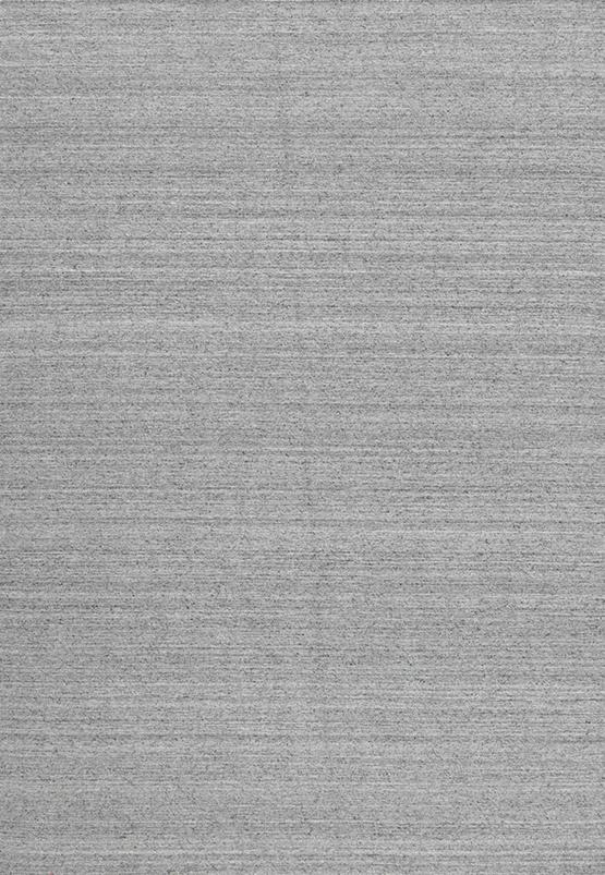 Laagpolig vloerkleed Nouveau Plain lichtgrijs