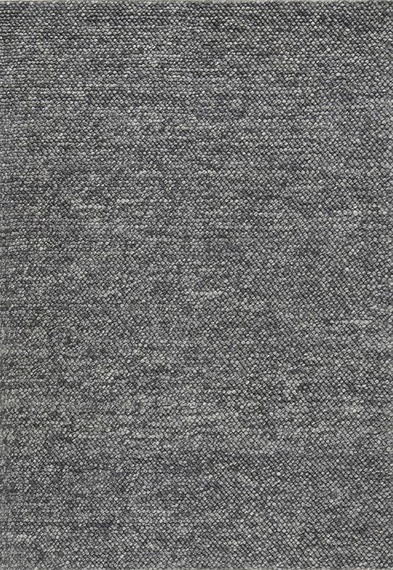 Laagpolig vloerkleed Drops donkergrijs
