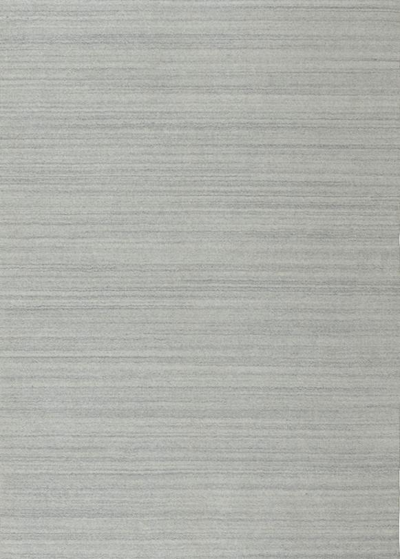 Laagpolig vloerkleed Artic Plain zilver