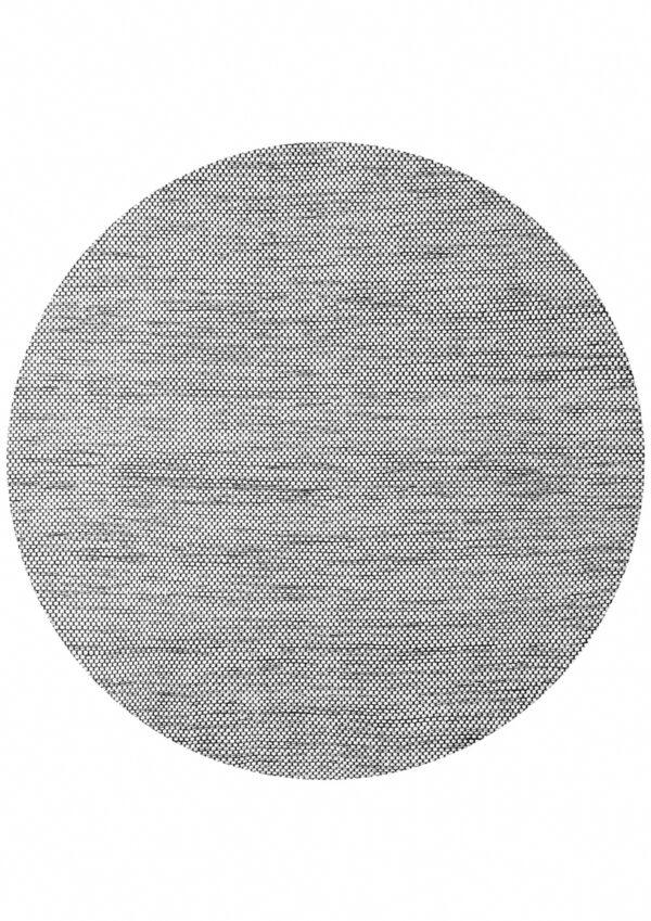 Laagpolig vloerkleed Matta Scandi zwart/wit 200 rond